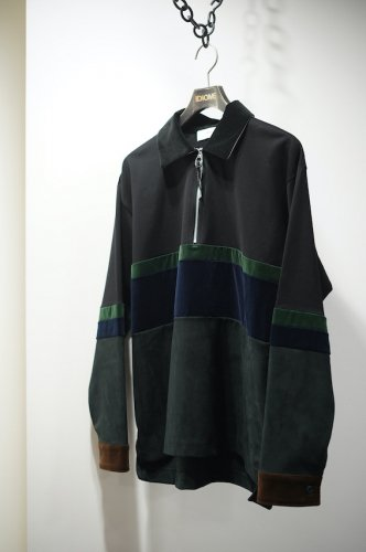 Fake suede jersey zip pullover<img class='new_mark_img2' src='https://img.shop-pro.jp/img/new/icons14.gif' style='border:none;display:inline;margin:0px;padding:0px;width:auto;' />