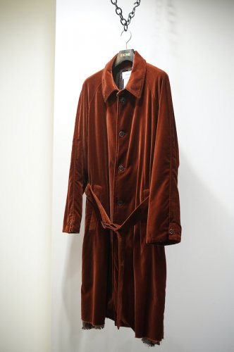 CUT OFF VELVET COAT brown<img class='new_mark_img2' src='https://img.shop-pro.jp/img/new/icons14.gif' style='border:none;display:inline;margin:0px;padding:0px;width:auto;' />
