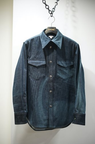 MARBLE DENIM SHIRT<img class='new_mark_img2' src='https://img.shop-pro.jp/img/new/icons14.gif' style='border:none;display:inline;margin:0px;padding:0px;width:auto;' />