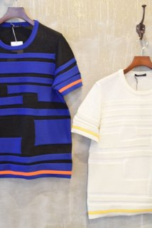 TAAKK(16SS)/ターク/Block border knit Short