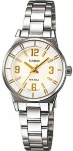 Casio(カシオ)Women's LTP1361D-7AV Silver Stainless-Steel Quartz with White Dial
