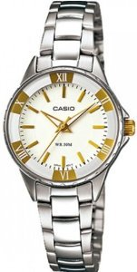 Casio(カシオ)Women's LTP1360D-7AV Silver Stainless-Steel Quartz with White Dial