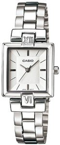Casio(カシオ)Women's LTP1354D-7C Silver Stainless-Steel Quartz with Silver Dial