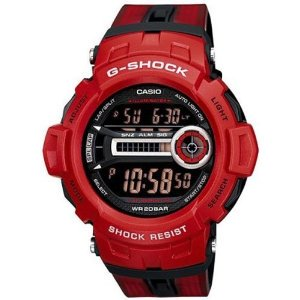 Casio(カシオ)Men's G-Shock GD200-4 Red Resin Quartz with Black Dial