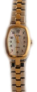 Timex(タイメックス)Womens Classics MOP Dial Gold Tone Case Two Tone Expansion Band,,,