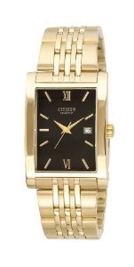 Citizen(シチズン)Quartz Date Rectangle Black Dial Unisex BH1372-56E