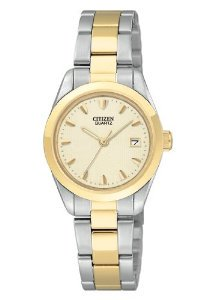 Citizen(シチズン)Quartz Two Tone Champagne Dial Women's EU1814-53P
