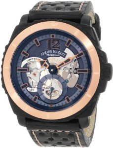 Armand Nicolet(アルマンニコレ)Men's S619N-BU-P760NR4 L09 Limited Edition TwoToned (D.L.C. Black Tit