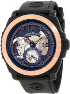 Armand Nicolet(アルマンニコレ)Men's S619N-BU-G9610 L09 Limited Edition TwoToned (D.L.C. Black Titan