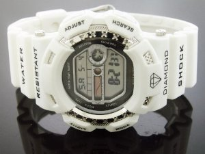 King Master(キングマスター)Mens Diamond White Case Digital G Shock Style Km
