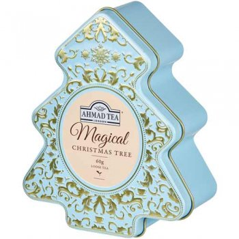 数量限定! 冬季限定アーマッドティー ツリー缶(ブルー) AHMAD TEA Tree Caddy 1659