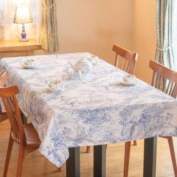 Le Chateau テーブルクロス(長方形)Blue Toile TBCH57RXL (約 縦178cm × 横228cm)