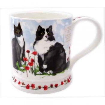 Dunoon マグカップ (Iona) Garden Cats Black & White DNCG1 [0.4L]