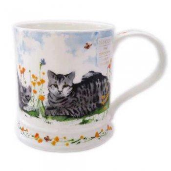 Dunoon マグカップ (Iona) Garden Cats Tabby DNCG2 [0.4L]
