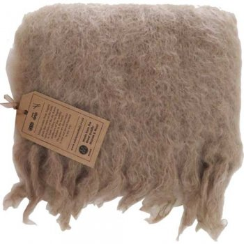 Cape Mohair ケープモヘヤ Fluffy Mohair Scarf Dark Camel FFMS003