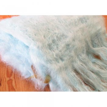 Cape Mohair ケープモヘヤ Fluffy Mohair Scarf Pale Turquoise FFMS005