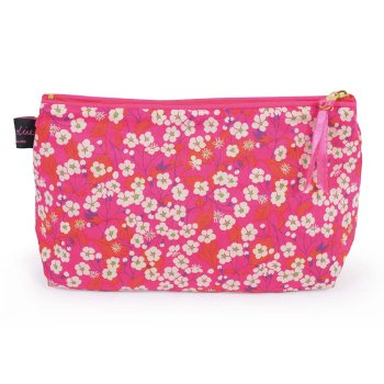 LIBERTY Tana Lawn Cotton Cosmetic Bag<br>Mitsi Hot Pink ACCB02【約 横21cmxたて14cm】
