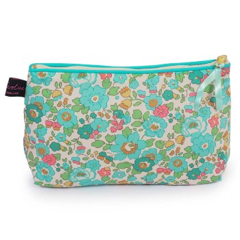 LIBERTY Tana Lawn Cotton Cosmetic Bag<br>Betsy Turquoise ACCB05【約 横21cmxたて14cm】