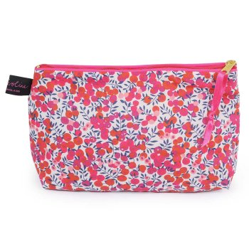 LIBERTY Tana Lawn Cotton Cosmetic Bag<br>Wiltshire Red ACCB08【約 横21cmxたて14cm】