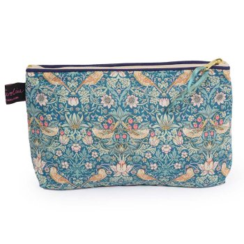 LIBERTY Tana Lawn Cotton Cosmetic Bag モリスデザインオックスフォードタイム Strawberry Thief Blue ACCB06