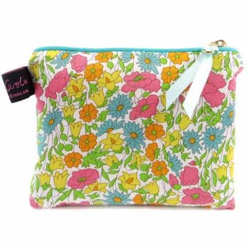 LIBERTY Tana Lawn Cotton Small Flat Purse<br>Poppy and Daisy ACSFP04【約 横14cmxたて11cm】