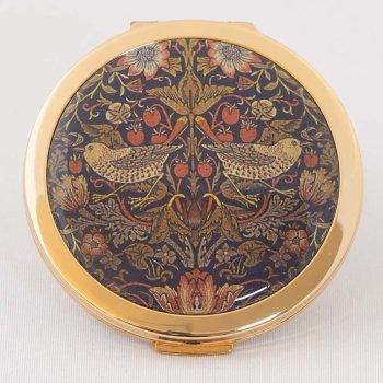 ストラトン デュアルミラー<br>モリスデザインオックスフォードタイム Strawberry Thief(いちご泥棒) STD1121 [直径7cm、厚さ1cm]