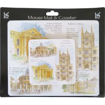 Little Snoring Mouse Mat & Coaster Set Sheldonian MCS001
