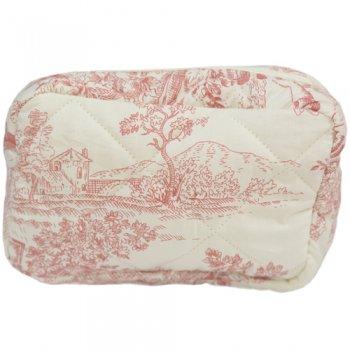 トワル・ド・ジュイ ジュイの更紗 西洋更紗 Small Cosmetic Bag Pink Toile CBSC58