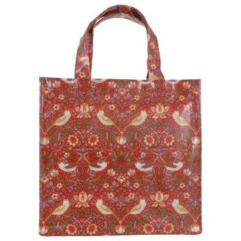 モリスデザインオックスフォードタイム<br>PVC BAG ミニガセットバッグ<br>Strawberry thief Red MGBM16
