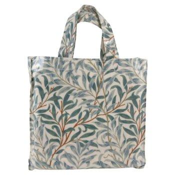 モリスデザインオックスフォードタイム<br>PVC BAG ミニガセットバッグ<br>Green Willow MGBM11