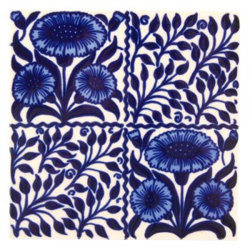 CRAVEN DUNNILL JACKFIELD  Ceramic Pot Stand  セラミックポットスタンド Daisy Blue 英国製