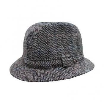 Jacob ジェイコブ・ウール 男性用 帽子 中折れ帽・中折れハット タウンハット ヘリンボーン TH176/A4L