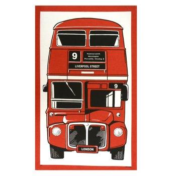 ティータオル 100%コットン London Bus  GTT45