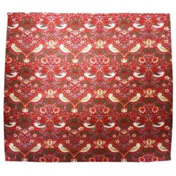 MorrisDesign at Oxford Time モリスデザインオックスフォードタイム テーブルナプキン コットン100% Strawberry Thief Red NP12