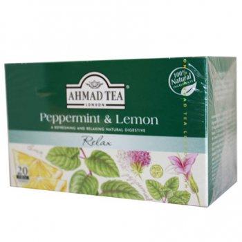 AHMAD TEA アーマッドティー ティーバッグ ハーバル&フルーツティー ペパーミント&レモン PL20