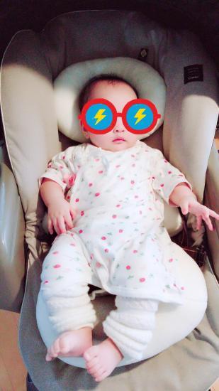 ネムリラで寝ている赤ちゃん