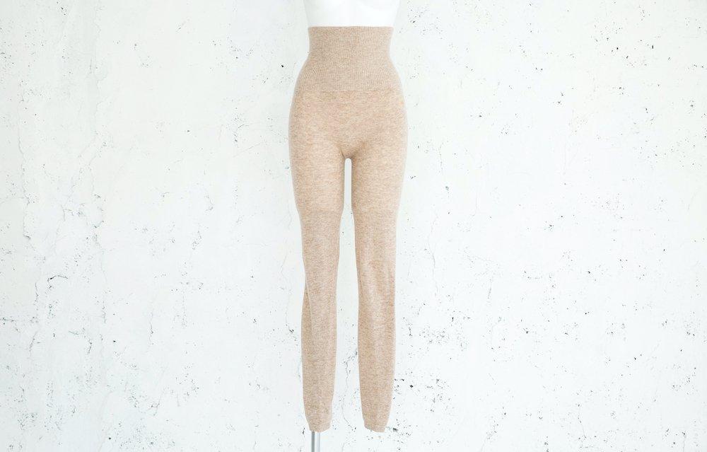 女神のあったかインナーカシミヤ100%無縫製腹巻きスパッツベージュ