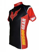 Musou gear short sleeve Rash guard #03 Black/Red