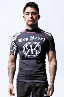 TOPREBEL GYM × MSOGR Tribal Tatoo Short Sleeve Rash guard