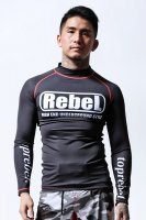 MSOGr x TOPREBEL GYM Under Ground Logo Long Sleeve Rash guard