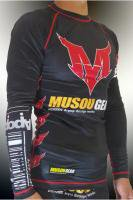 Musou gear long sleeve Rash guard #01 Black