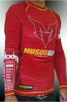 Musou gear long sleeve Rash guard #01 Red