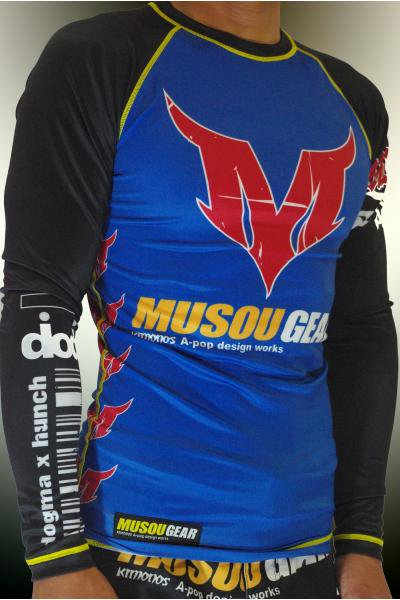 Musou gear long sleeve Rash guard #01 Dark blue