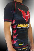 MSOGr short sleeve Rash guard #01 Black