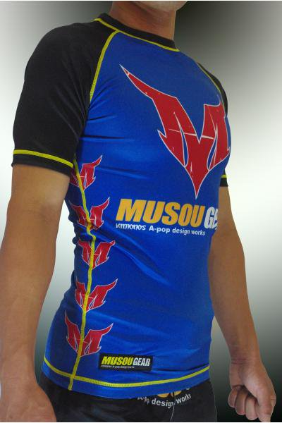 Musou gear short sleeve Rash guard #01 Dark blue