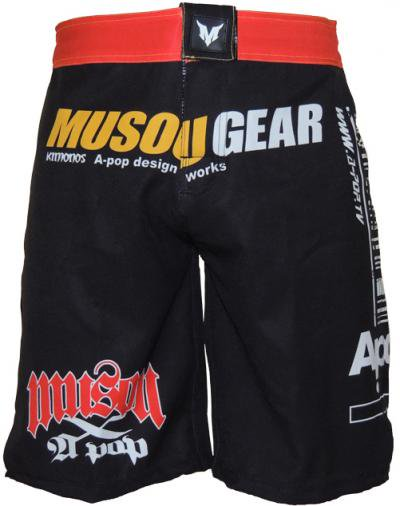 Musou gear Fight shorts #1 Black/Red
