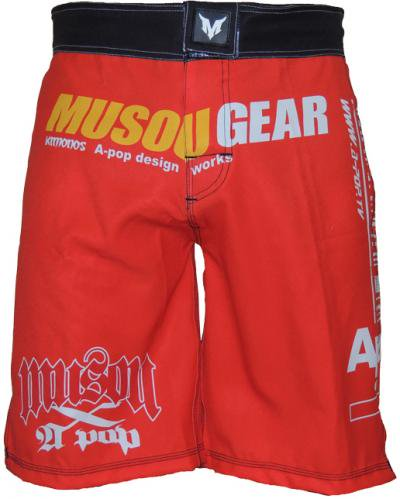 Musou gear Fight shorts #1 Red/Black