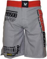 Musou gear Fight shorts #2 Gray/Red