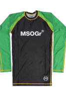 Musou gear long sleeve Rash guard #02 Black/bright Green