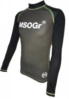 Musou gear long sleeve Rash guard #02 Charcoal/Black